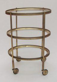 Brass oval trolley detail