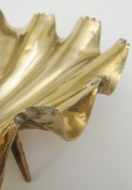 Brass shell dish detail