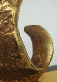 Bronze bookends detail