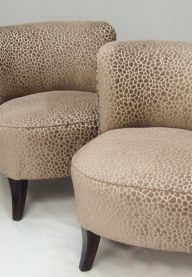 Cocktail chairs pair