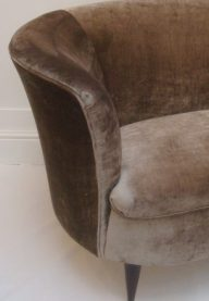 Curved sofa detail