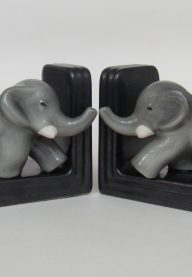 Elephant bookends detail