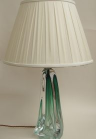 Emerald green crystal lamp