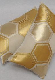 Hexagon obi cushions