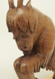Hoenig walnut goat detail