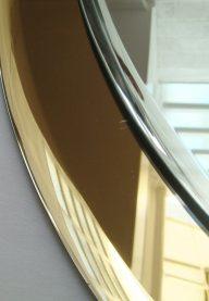 Italian oval mirror detail