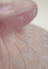 Kosta Boda pink vase detail