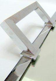 Large mirrored tray detail