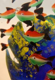 Murano aquarium paperweight detail