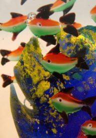 Murano aquarium paperweight detail