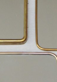 Set of brass mirrors detail 3