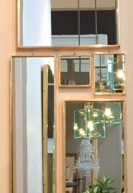 Set of five mirrors