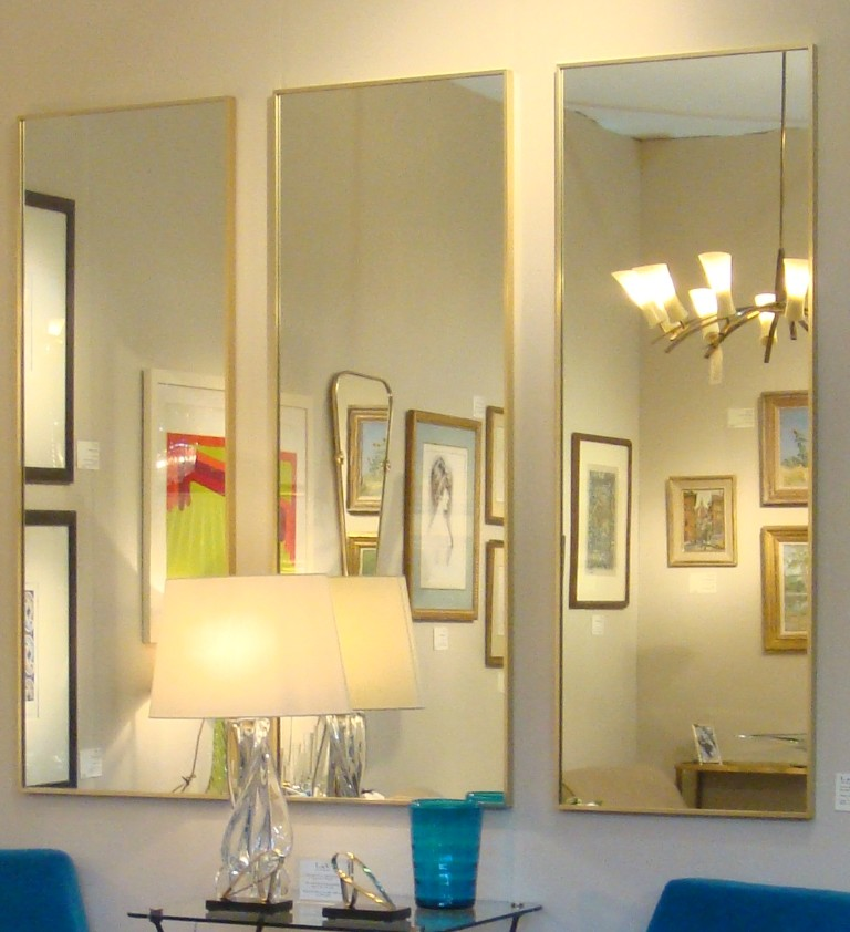 set of three large mirrors l v art and design. Black Bedroom Furniture Sets. Home Design Ideas