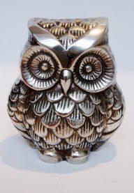 Silver metal owl