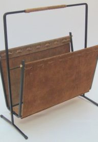 Suede magazine rack 3