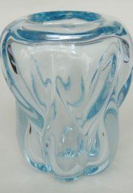 Val St Lambert blue vase