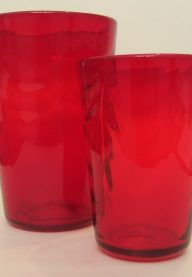 Whitefriars ruby vases