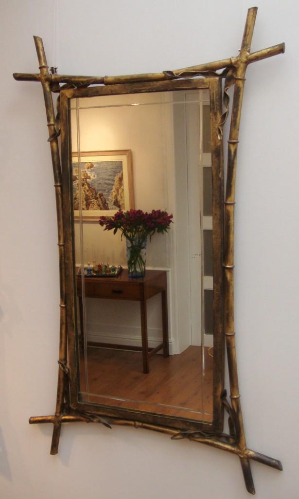 Faux bamboo mirror | L...